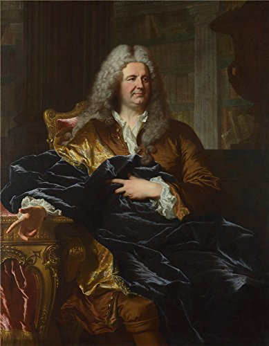 Oil Painting 'Hyacinthe Rigaud Antoine Poris', 16 x 21 inch / 41 x 52 cm , on High Definition HD canvas prints is for Gifts And Basement, Dining Room And - Detroit Area Eyeglasses