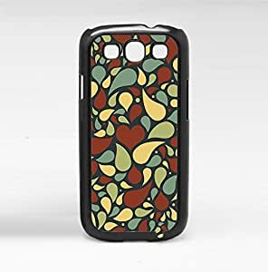 Fun Abstract Pattern with Hearts Hard Snap on Phone Case (Galaxy s3 III) by heywan