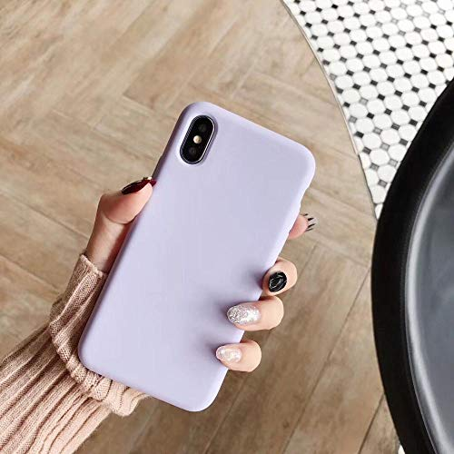 1 piece Luxury Colorful Anti knock Case For iPhone X XS XSMax XR Simple Plain Silicone Soft Cases For iPhone 6 6S 7 8Plus Back Cover
