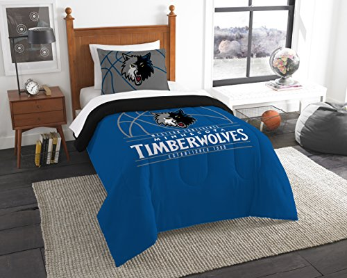 fan products of Officially Licensed NBA Minnesota Timberwolves Reverse Slam Full/Queen Comforter and 2 Sham Set