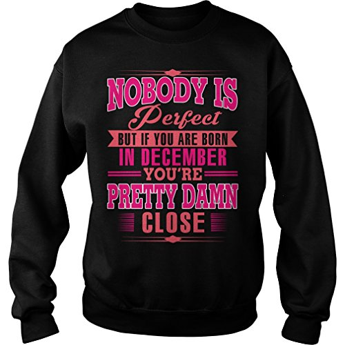 Zordan Nobody Perfect But If You Are Born In December Ugly Christmas Sweater (S) December Birthday Men Women