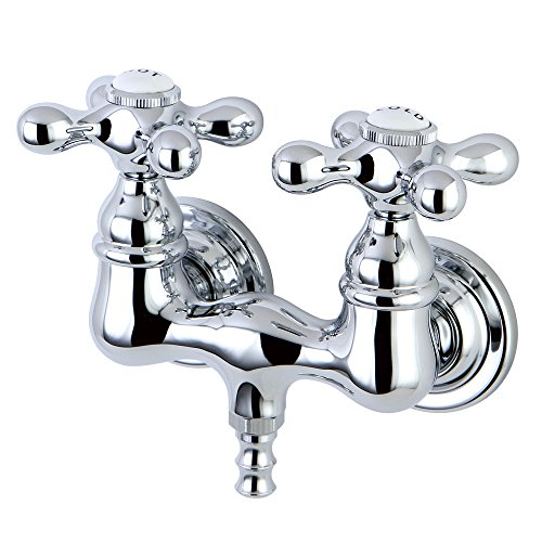 Kingston Brass CC38T1 Vintage Leg Tub Filler, Metal Cross Handle, Polished Chrome