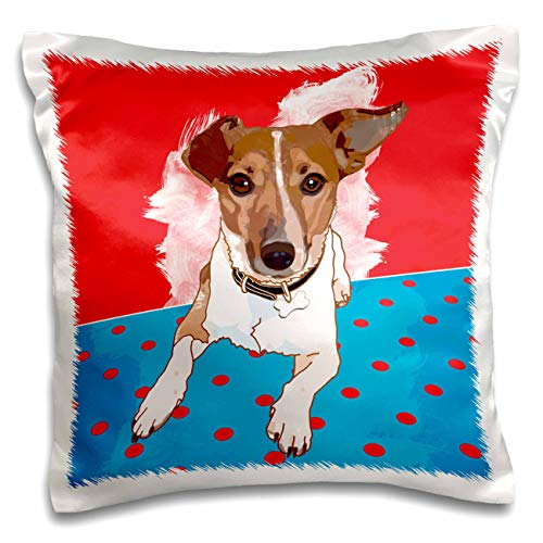 3dRose zuluspice - Animals - Portrait of a Jack Russell Terrier - 16x16 inch Pillow Case (pc_292076_1)