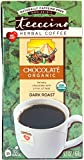 Teeccino Chocolate Organic Chicory Herbal Tea, Caffeine Free, Acid Free, Prebiotic Coffee Substitute, 25 Tea Bags