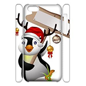Iphone 5C Penguin 3D Art Print Design Phone Back Case Personalized Hard Shell Protection MN031262