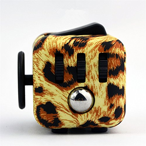 DSSY Fidget Dice I Anti-Stress Release Toys for Children Adults (Cheetah)