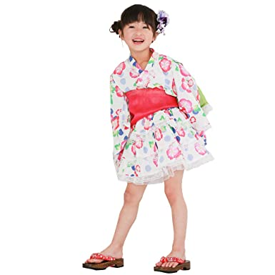 bdfffdd4a325f Amazon | 浴衣ドレス 子供 浴衣ドレス+兵児帯 ベビー キッズ ジュニア 女の子 [リトルプリンセス] Little Princess |  着物・浴衣 通販