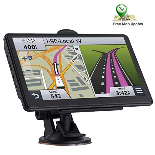 GPS Navigation for Car, 7-inch Touch Screen 256-8GB Real Voice Voice Turn Direction Reminder Navigation System, car GPS Satellite Navigator, with Free Lifetime map Update