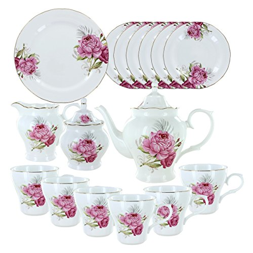 Deluxe Porcelain Tea Set - Beauty in Bloom Deluxe Porcelain Tea Set