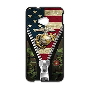 Happy USMC Fashion Comstom Plastic case cover For HTC One M7
