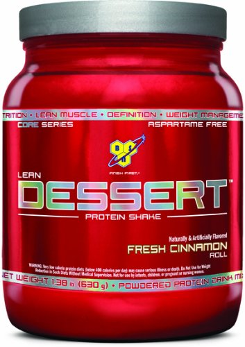 BSN Lean Dessert Protein, Fresh Cinnamon Roll 1.38 Pounds