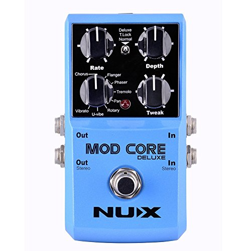 Rotary Effect (NUX MOD Core DELUXE Chorus/Flanger/Phaser/Rotary Guitar Effect Pedal 8 Modulation Effects Preset Tone Lock)