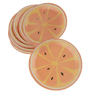 Amazon.com: 8 platos de papel de limón desechables para ...