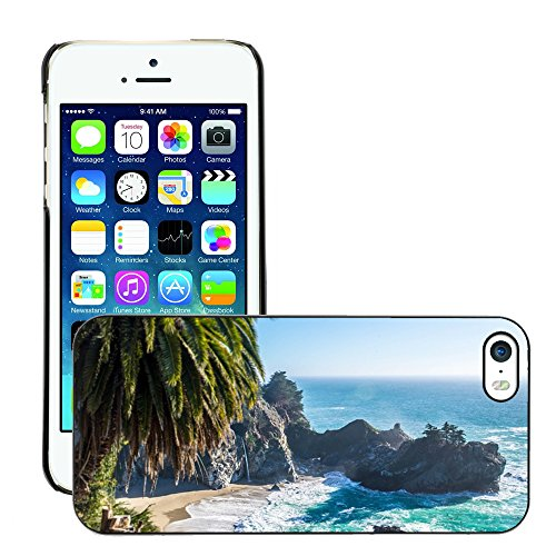 Stampato Modelli Hard plastica Custodie indietro Case Cover pelle protettiva Per // M00421628 Sand Beach Île Côte Shore // Apple iPhone 5 5S 5G