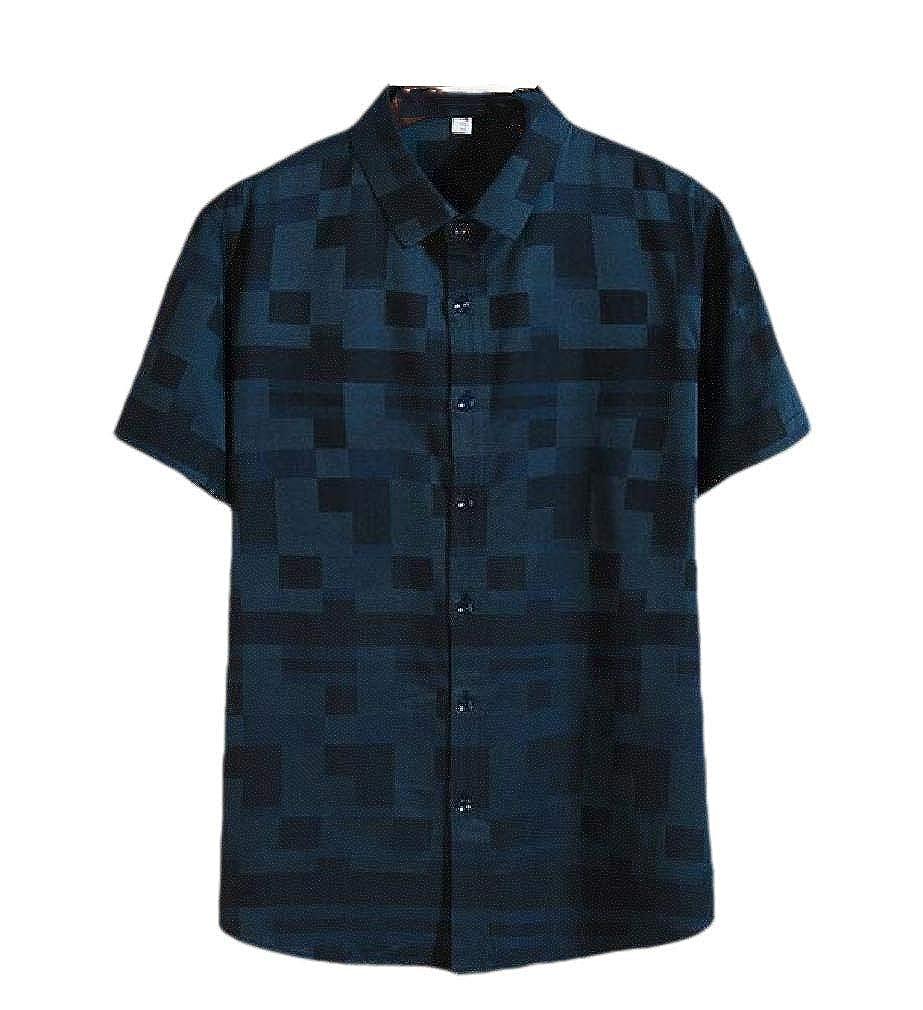 Winwinus Men Summer Plus-Size Casual Short-Sleeve Loose-Fit Classic T-Shirt