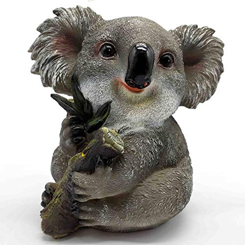 KERDITOO Koala Garden Statue Ornaments 7.48 Inches Polyresin Animal Outdoor/Indoor_Living Sculpture Decorations Natural color ()