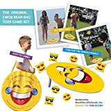 TheGag Cornhole Game for Kids Set-Bean Bag Toss Kids Children Family Party Fun 2 Emoji Boards 8 Emoji Bean Bags Carry Case Great Gift for Easter! Cornhole Indoor/Outdoor