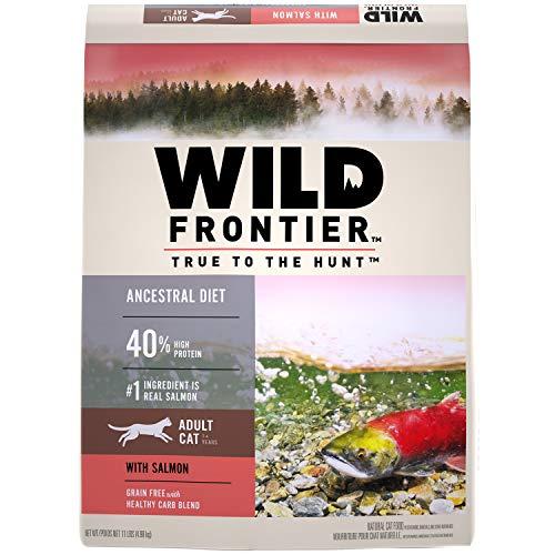 WILD FRONTIER Adult Grain Free Dry Cat Food Salmon Flavor, 11 lb. Bag