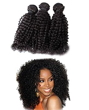 12 Unprocessed Virgin Mongolian Afro Kinky Curly Human Hair Extensions For Black Women Natural