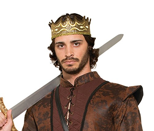 Adult size Medieval Fantasy King or Queen Golden Crown