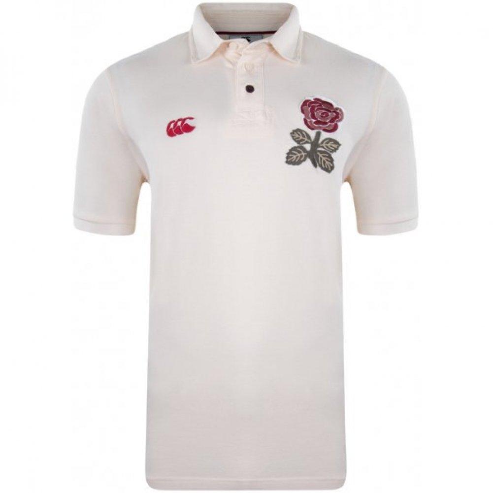 Canterbury Inglaterra 1871 Polo de Rugby Caballero, Blanco, L ...