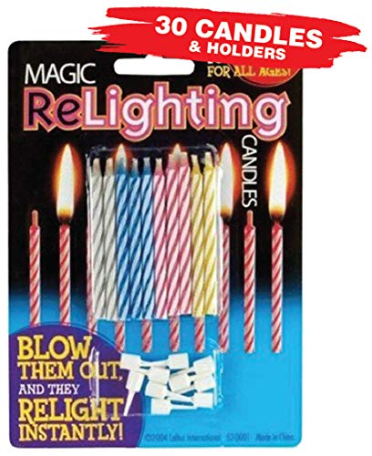 (Magic Relighting Birthday Candles (30 Candles Per)