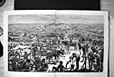 Print Diamond Diggings South Africa Camp Workers Buckets Carts 1872