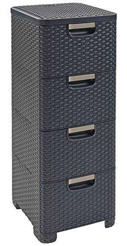 Dajar 98036 Regal mit 4 Schubladen Natural Style, grau