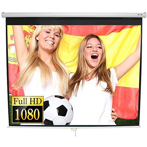 Jago Beamer Leinwand (Größenwahl) Heimkino 152 x 152 cm (215 cm Bilddiagonale / 85 Zoll) HDTV/3D tauglich