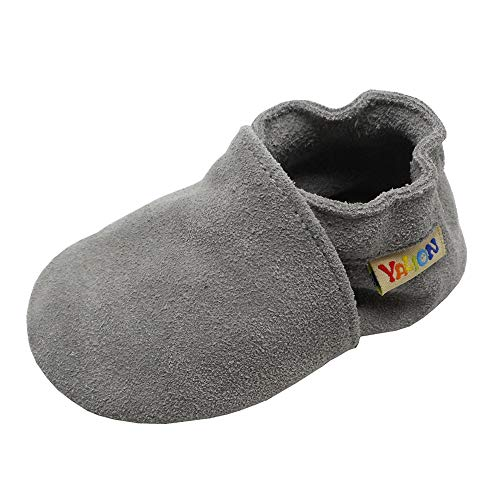 (Yalion Baby Boys Girls Shoes Crawling Slipper Toddler Infant Soft Leather First Walking Moccasins (APPR.12-18 Mos/5.5