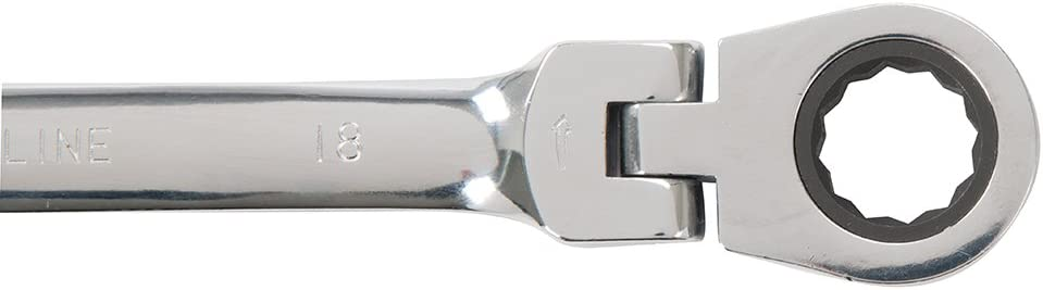 Silverline Flexible Head Ratchet Spanner Set 12pce 8-19mm
