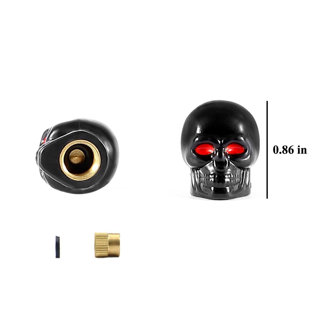dsycar estilo de calavera para bicicleta motocicleta rueda de coche de válvula de neumáticos Caps madre para coche estilo decoración accesorios - 4 ...