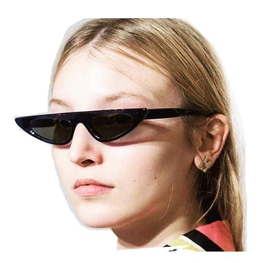 30c40ef21e0 JJLIKER Retro Vintage Cat Eye Sunglasses for Women Clout Goggles Plastic Frame  Glasses Black