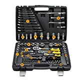 LUBAN Car Repair Tool Sets Combination Tool Wrench Set 120 PCS Socket Spanner Automotive Hardware Tools