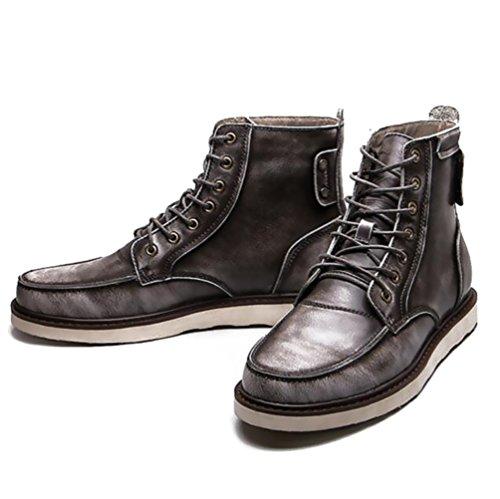 casual chaussures robe alpinisme automne plein air [fond mou] boots glisser sur blanc-Gris Longueur du pied=40EU CremLSac