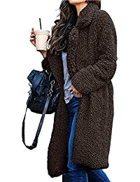 Fuzzy Jacket Women Faux Shearling Soft Lightweight Warm Winter Coats Trendy