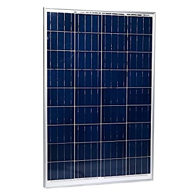 Eight24hours 100 Watts 100W Solar Panel 12V Poly Off Grid Battery Charger for RV