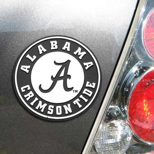 NCAA Alabama Crimson Tide Premium Metal Auto Emblem (Alabama Metal)