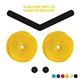 Alien Pros Bike Handlebar Tape EVA (Set of 2) Yellow - Enhance Your Bike Grip with These Bicycle Handle bar Tape - Wrap...