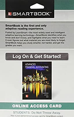 SmartBook Access Card for Advanced Financial Accounting 11th Edition