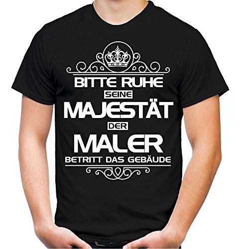 Bitte Ruhe seine Majestät der Maler T-Shirt | Beruf | Arbeit | Bau | Sprüche | Handwerker | Boss | Männer | Herren | Fun