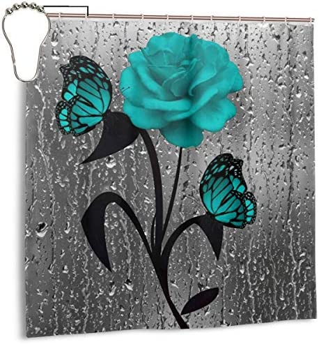 NOBRAND Blume des Lebens Runde H/ängeringe Duschvorhang Haken Dekorative Badezimmer Kristall Glas Keepers Rostfrei Edelstahl 12 St/ück
