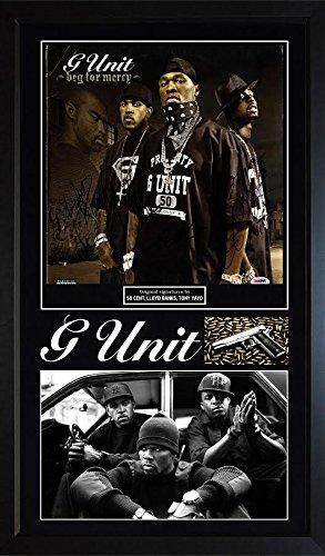 G-Unit 50 Cent Lloyd Banks Tony Yayo Signed Beg For Mercy Album LP Framed Displa ()
