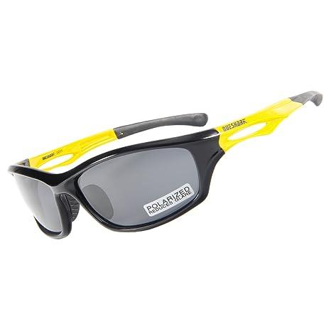 Queshark Polarizzati Sport Gli Occhiali Da Sole Neri Per Uomini Donne In Bicicletta a Fondale Guida Pesca Golf Gli Occhiali (Color 06) tyHE9uh0