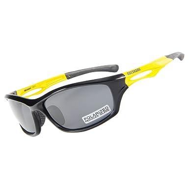 Queshark gafas polarizadas de deporte para correr ciclismo pesca caza Golf TR90, marco irrompible: Amazon.es: Ropa y accesorios