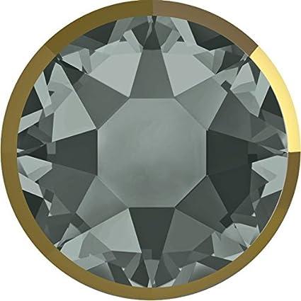d2bee1968ae99 2088/I Swarovski Flatback Crystals Non Hotfix Rimmed SS34   Black Diamond &  Crystal Dorado   SS34 (7.2mm) - Pack of 144 (Wholesale)   Small & ...