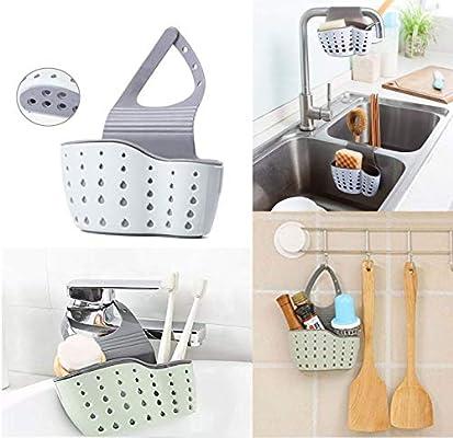 Kitchen Storage Rack Holder Sink Drainer Bathroom Shelf Soap Sponge Organizer UK