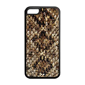 5C Phone Cases, Fashion Snake Skin Hard TPU Rubber Cover Case for iPhone 5C