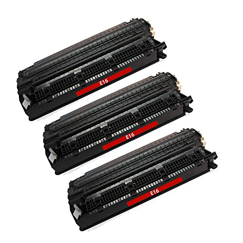 Superb Choice® Remanufactured Toner Cartridge for Canon E16 use in Canon PC-700 Printer - Pack of 3 Black - High Yield - Pc 700 Printers