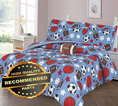 - Werrox Soccer Basketball Comforter Bed Sheet Set Window Panel Valance for Kids Teens Size | Quilt Style QLTR-291267520